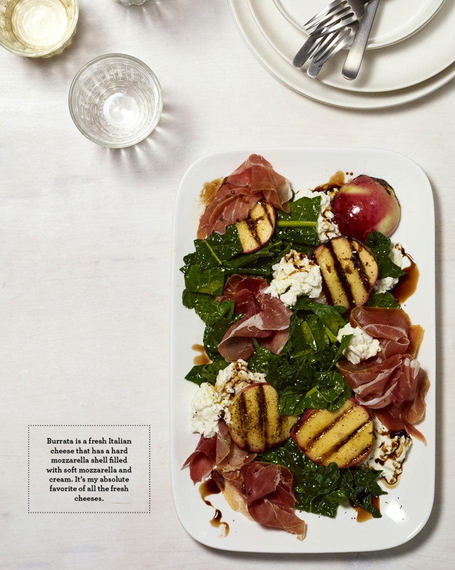 peach buratta salad | eat your heart out